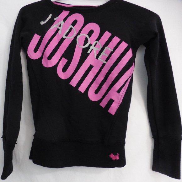 JOSHUA, small, black long sleeve sweatshirt, BNWOT